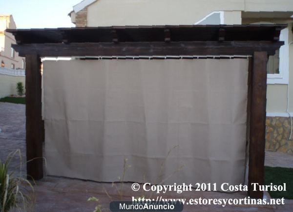 Las 25 mejores ideas sobre cortinas de lona en pinterest - Puertas para porches ...