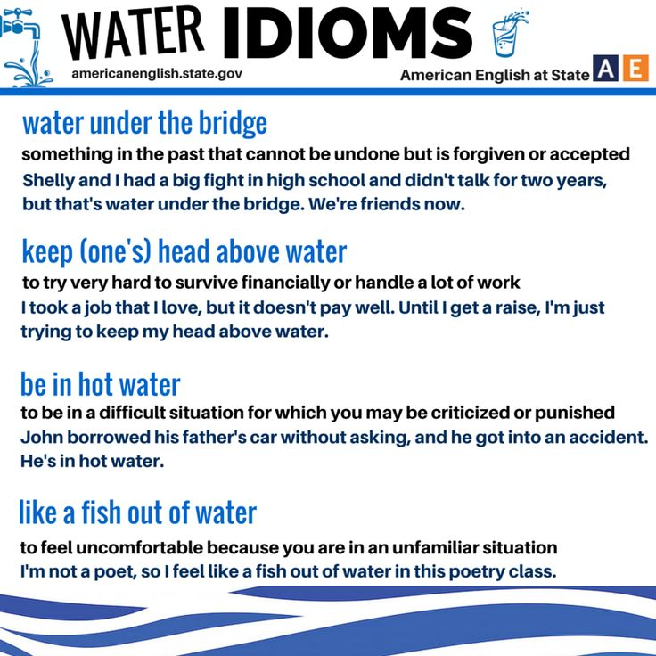 Water Idioms