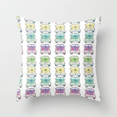 Krazy Kombie Throw Pillow by Sketchbook Designs - $20.00