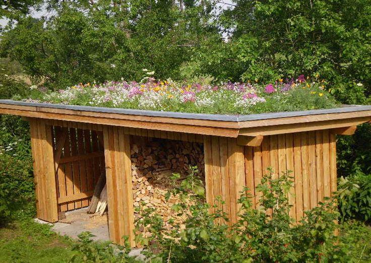 Holzschuppen mit Grasdach in Ottendorf(22)