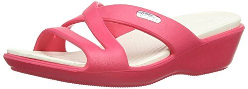 Crocs Patricia II, Women's Sandals, Red (Poppy/Oyster)