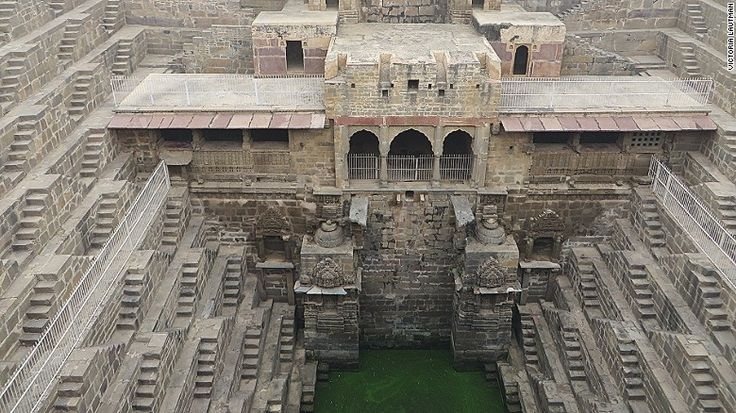 Chand Baori (in Rajasthan) is one of India's more famous stepwells. Lautman has visited over 120 of them.