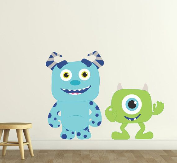 Amazing Monster Buddies Reusable Wall Stickers By SolanaGraphicStudios, $30.00 Part 9