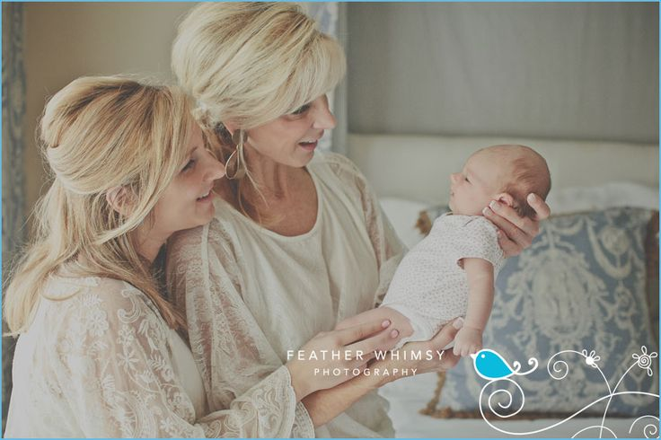 Newborn Photography Ideas - three generation portrait. Grandma, mom and daughter.  ** There are MANY great newborn shots on this blog! **