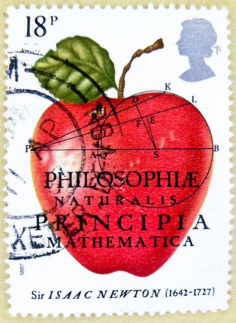 beautiful stamp Great Britain 18p GB England UK แสตมป์ บริเตนใหญ่ pulları İngiltere frimärken Storbritannien टिकटों ग्रेट ब्रिटेन इंग्लैंड timbre postes postage 18p pence Sir Isaac Newton (1642-1727) Philosophia Naturalis Principia Mathematica selo sello by stampolina, via Flickr