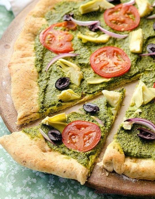Средиземноморская Песто Пицца on http://kulinarniyclub.ru