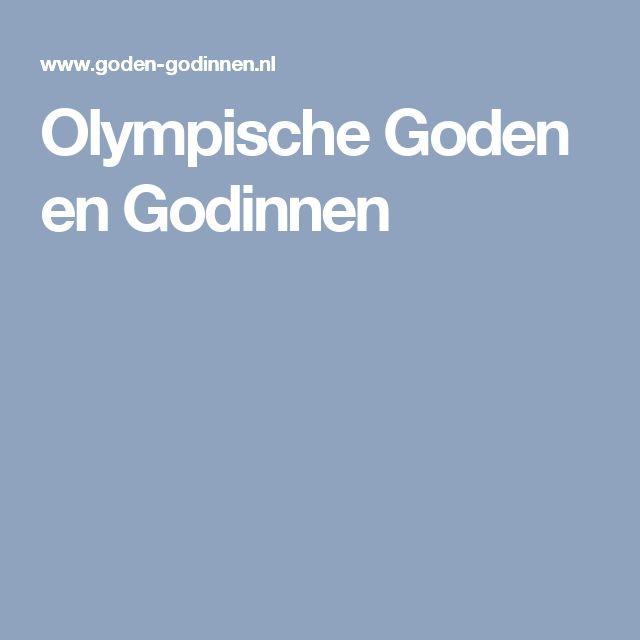 Olympische Goden en Godinnen