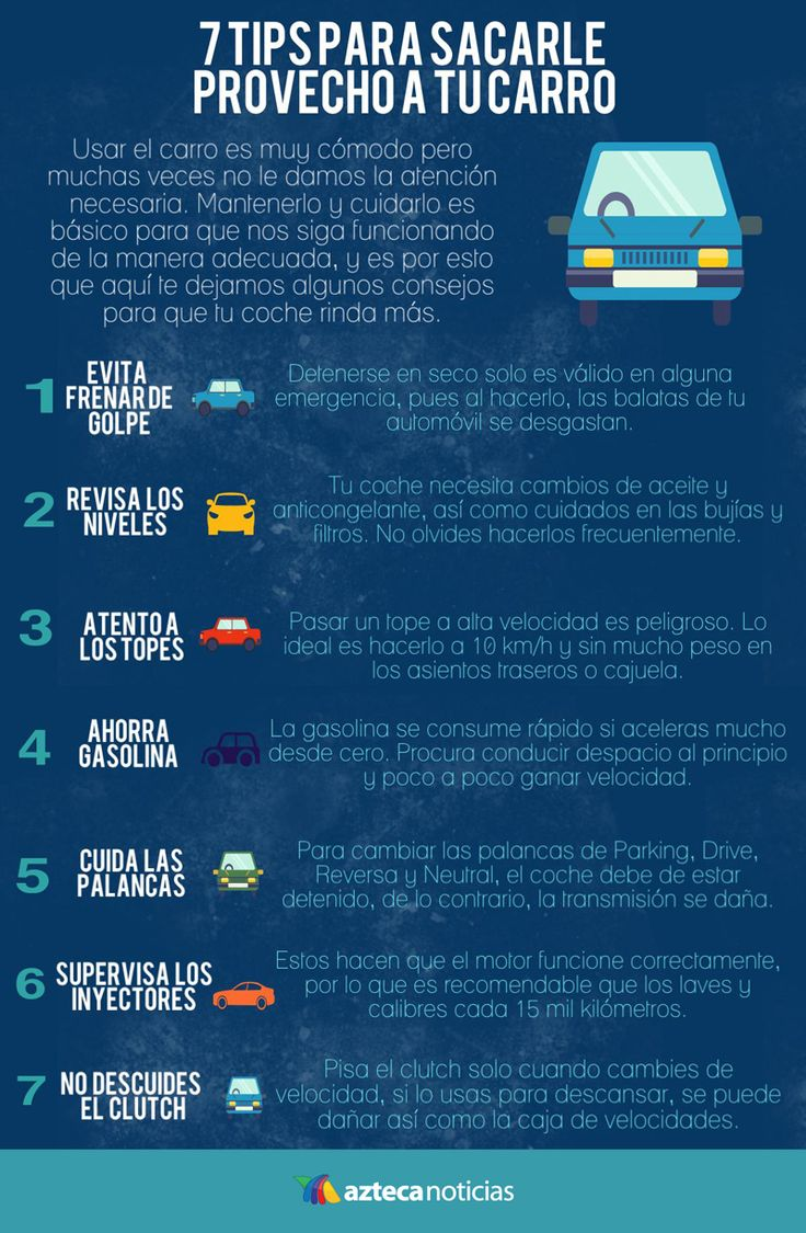 7 tips para sacarle provecho a tu carro #infografia