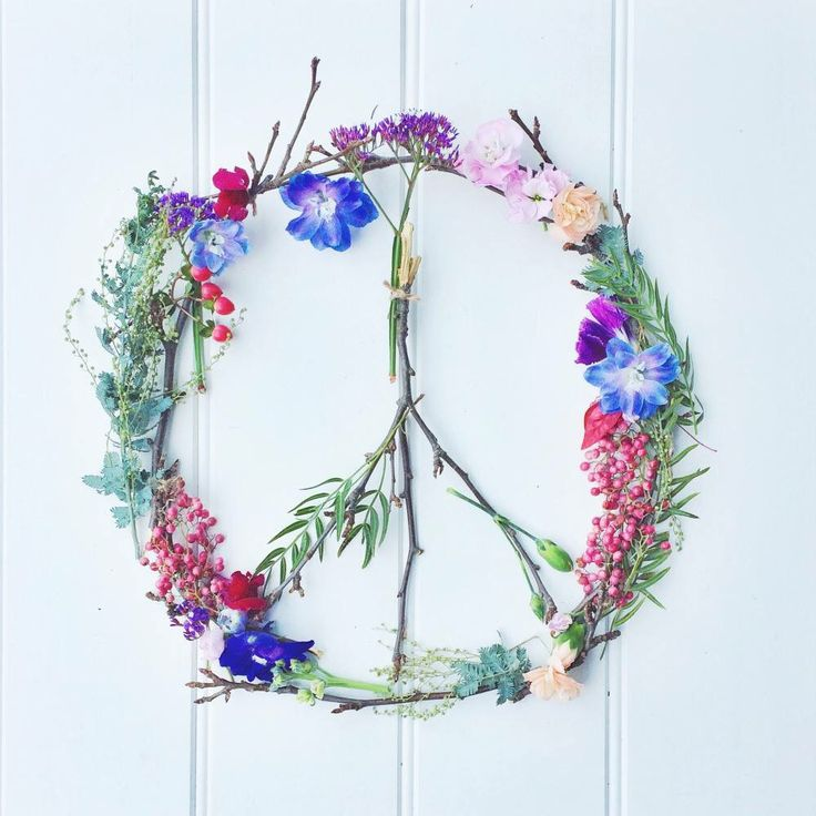 Peace sign made out of flowers | Peace Signs | Pinterest ...