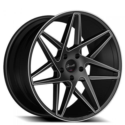 "20"" 22"" 24"" Giovanna-Gianelle Wheels Parma Black Machined Rims #AudioCity"