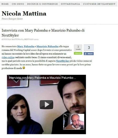 Interview with Mary Palomba and Maurizio Palumbo by Nicola Mattina