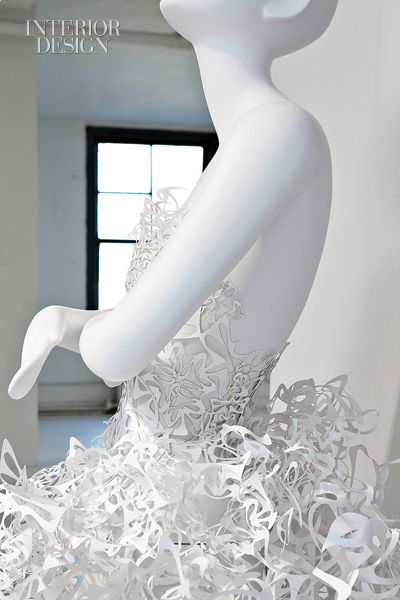"""Wow- completely made from paper """"Pratt + Paper & Ralph Pucci."""""""