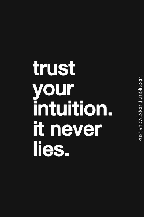 #Ode to #Intuition