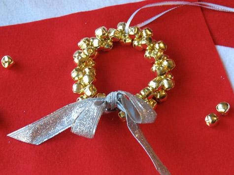 Jingle Bell Wreath - for the tree or a necklace: Christmas Ornament