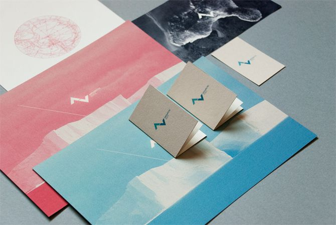 """""""antarctic voice"""" identity + print collateral"""