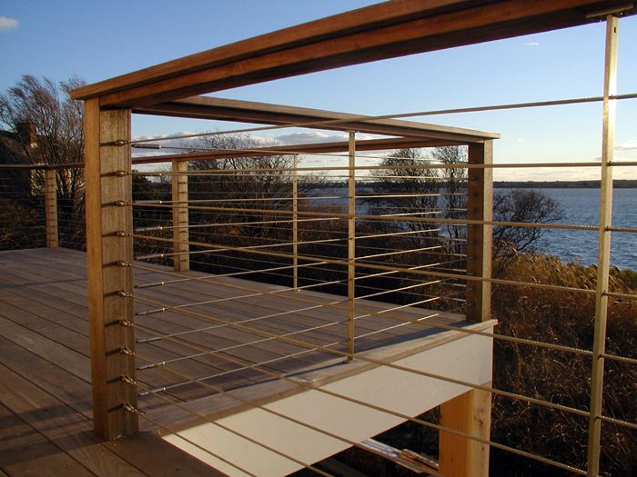 Wire Deck Railing Ideas See 100s of Deck Railing Ideas http://awoodrailing.com/2014/11/16/100s-of-deck-railing-ideas-designs/