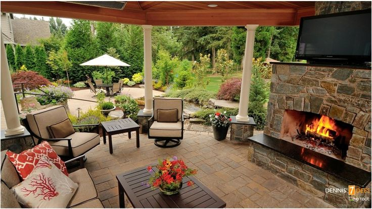 Covered outdoor living space beautiful outdoors pinterest - Covered outdoor living spaces ...