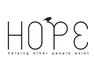 HOPE Logo with bird perched on P. HOPE is a hand-made apparel business and all proceeds go to Life Impact International, a non-profit organization that exists to eradicate child trafficking in Thailand.