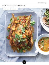 Waitrose Food July 2017: Whole chicken red curry with Thai basil