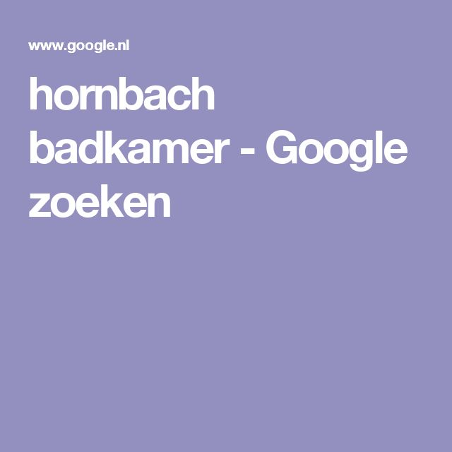 hornbach badkamer - Google zoeken