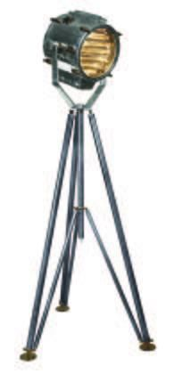 "SL039 Marconi Spotlight 39.4"" with Nickel plated machine steel brass Material in Silver/Polished"