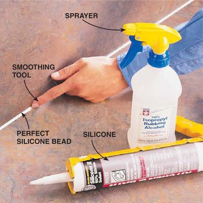 DIY Tip of the Day! To smooth silicone caulk, just lay down a nice bead with your caulk gun, then spray a mist of rubbing alcohol on the bead. (The spra... - The Family Handyman - Google+