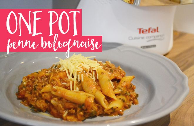 My bolognaise recipe converted to a one pot penne dish for the Tefal Cuisine Companion. No fuss, easy and delicious! | Easy meal ideas | Cooking for kids