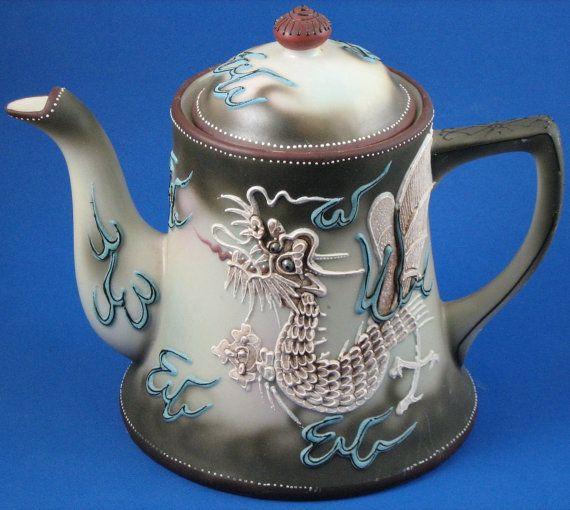 Vintage Nippon Dragon Complete 17 Piece Tea Set by greencreekfarm on Etsy