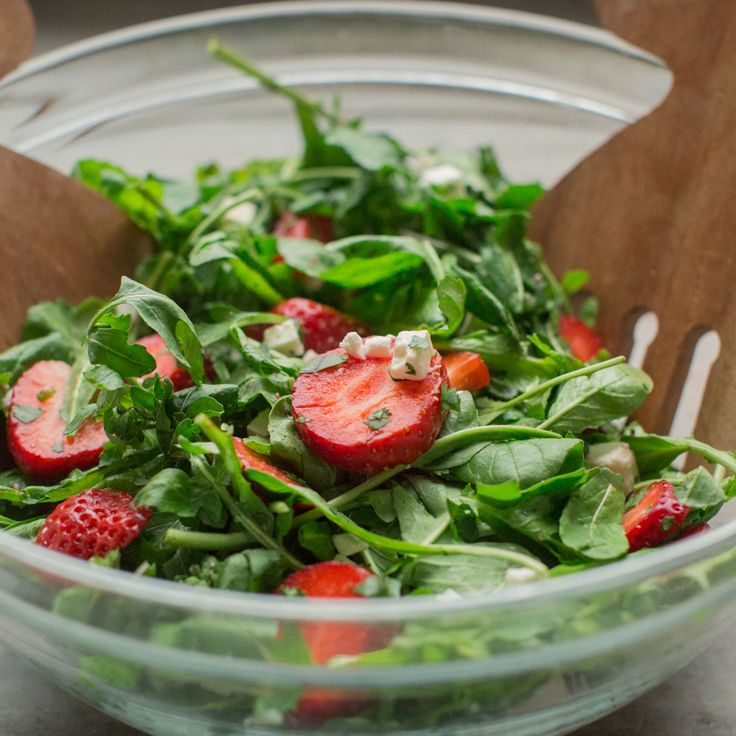 Healthy, simple meal ideas: Strawberry and Arugula Salad #shopmeals #relayfoods
