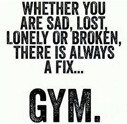 """""""Love this!!!! Gym IS my boyfriend:)"""" so true! Endorphins are seriously our best friends. Lol"""