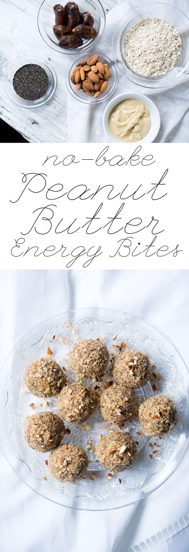 No Bake Peanut Butter Energy Bites  Gluten Free & Vegan