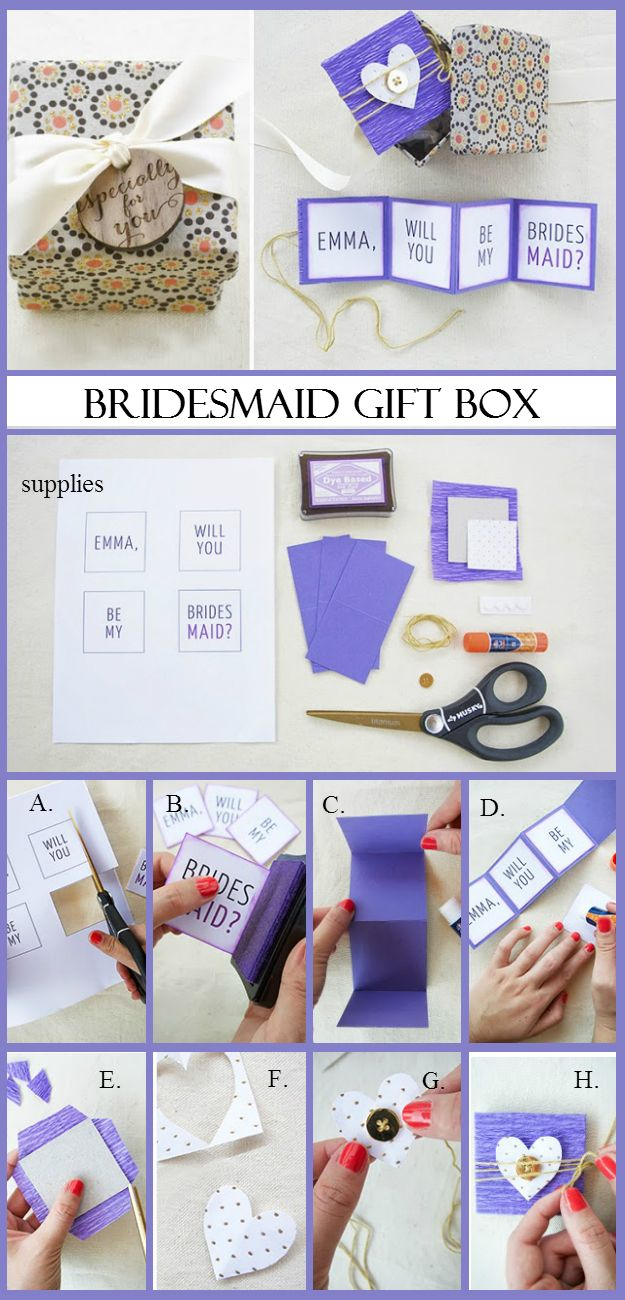 Bridesmaid Gift Box Httpdiyhomeideascombridesmaid - Creative diy birthday invitations in a box