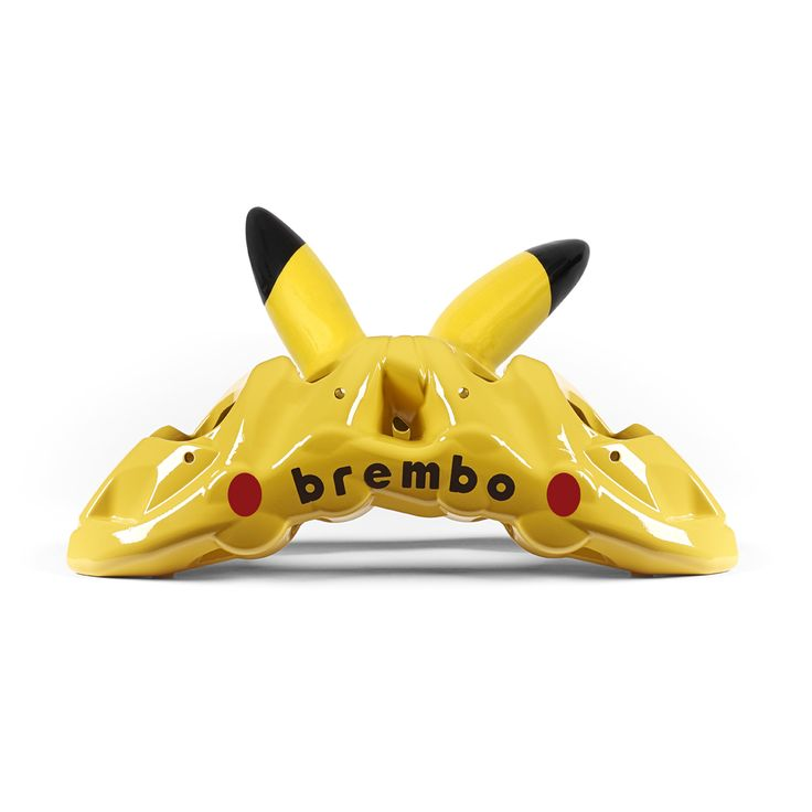 WHAT IF #BREMBOBRAKES CALIPERS WERE #POKÈMON? Pikachu Caliper #Photoediting Pikachu Brembo Caliper post for #Pokemongo application. #Digital content for social network.