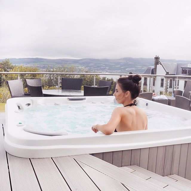 Hot tub | Scotland | spa | Scottish travel | visit Scotland | gleddoch guest house and spa | spa weekend | girly spa break | hen day