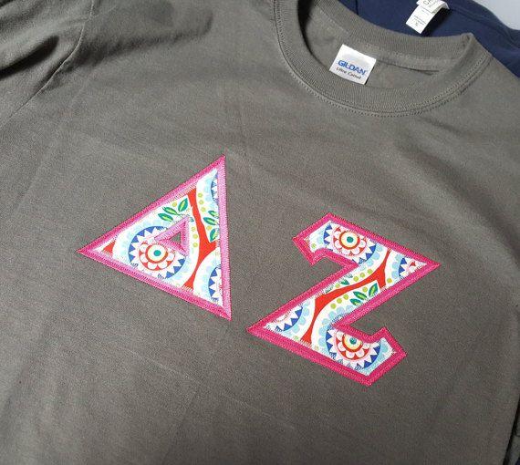 Delta Zeta Letter Crew Neck Sweat Shirts by BlueFrogTs on Etsy