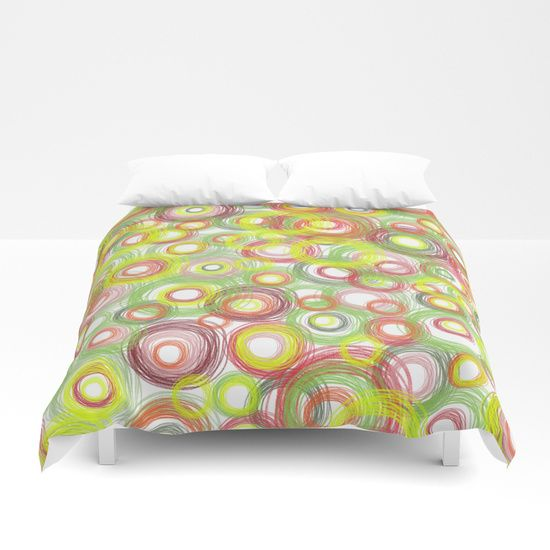 Christmas Cheer Doodle circles Duvet Cover, $99