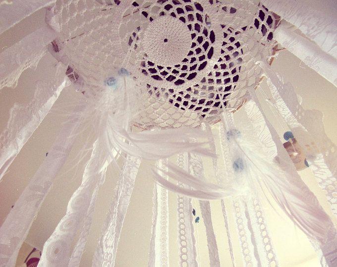 Boho Bed Crown Baby wieg Canopy Gypsy kwekerij door iCatchUrDream
