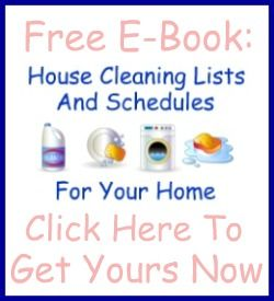 Free 40 page ebook: contains 7 printable cleaning checklists and 3 blank schedules that you can fill out to make a customized cleaning schedule for your home {on Household Management 101}