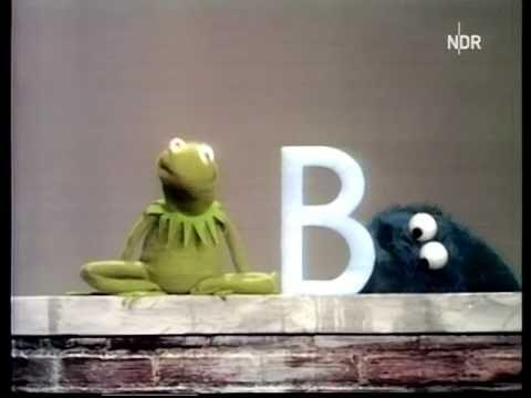 Kermit der Frosch und Krümelmonster - Buchstaben (Sesamstrasse)
