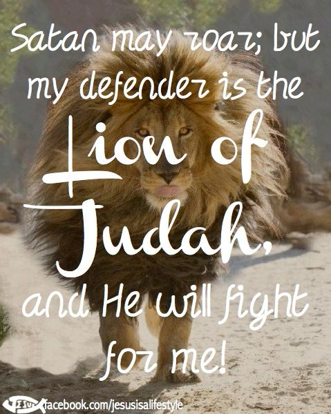 Jesus has already defeated Satan, Satan only has deception and lies...keep you eyes on your Lion Of Judah..e