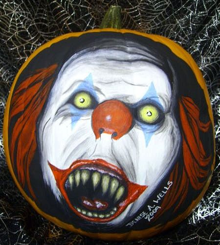 1000 images about the holidays on pinterest tissue for Clown pumpkin painting