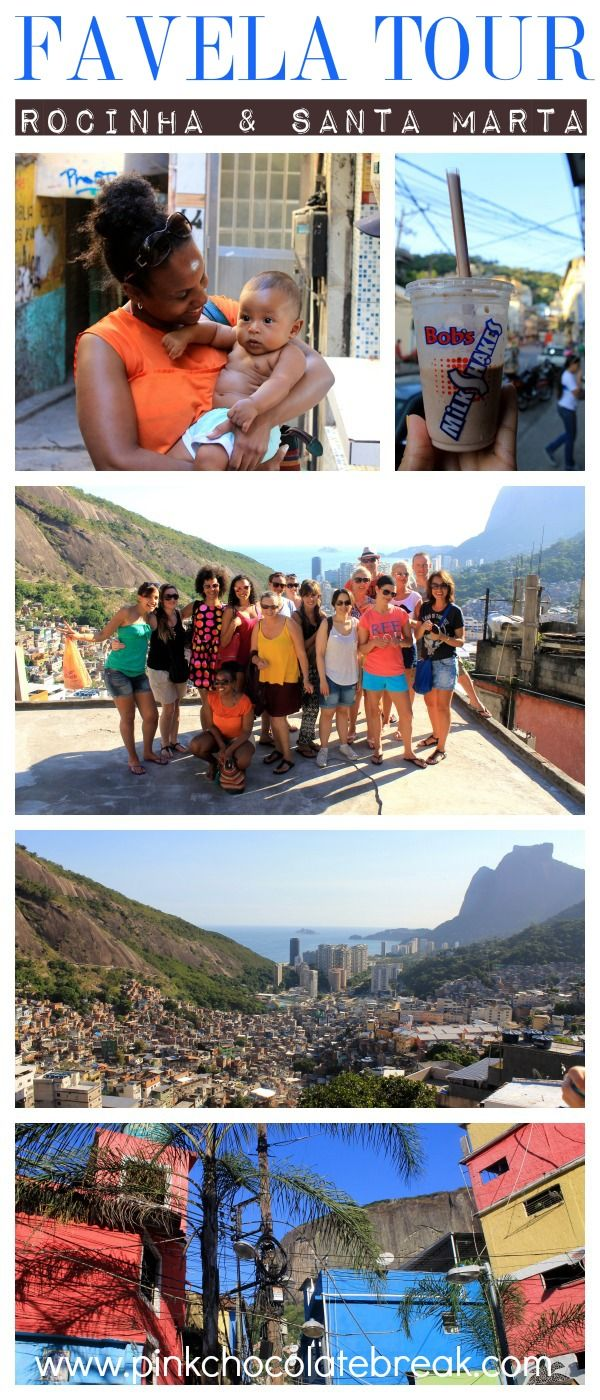 Favela Tour in Rio de Janeiro: Yay or Nay?  The first things most people associate with favelas are shootings, danger and criminals. The people living in favelas have a bad rep as most Brazilians think only criminals live here whereas it's only 2%!  After my favela tours in Rocinha and Santa Marta I fell in love with the people and places. Find out why here -> http://www.pinkchocolatebreak.com/en/favela-tour-in-rio-de-janeiro-yay-or-nay/ #favela #riodejaneiro