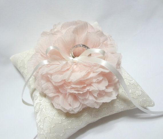 Wedding ring pillow   wedding bearer ring pillow ivory by mirino, $35.00