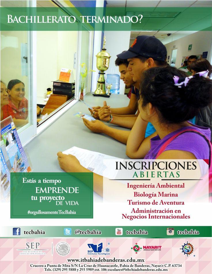 Ing. Ambiental, Lic. Biología Marina, Lic. Turismo de Naturaleza y de Aventura, Lic. Administración de Negocios Internacionales