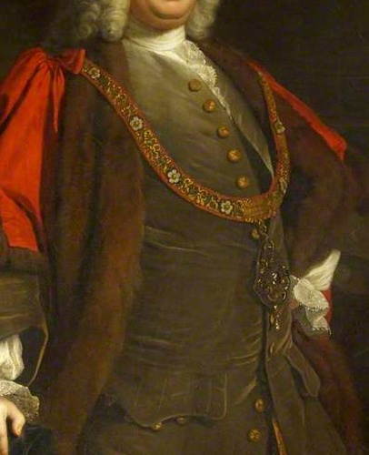 Mayoral Paunch! Sir Richard Hoare II (1709–1754), Kt, as Lord Mayor of London, 1746,  by Allan Ramsay  National Trust.