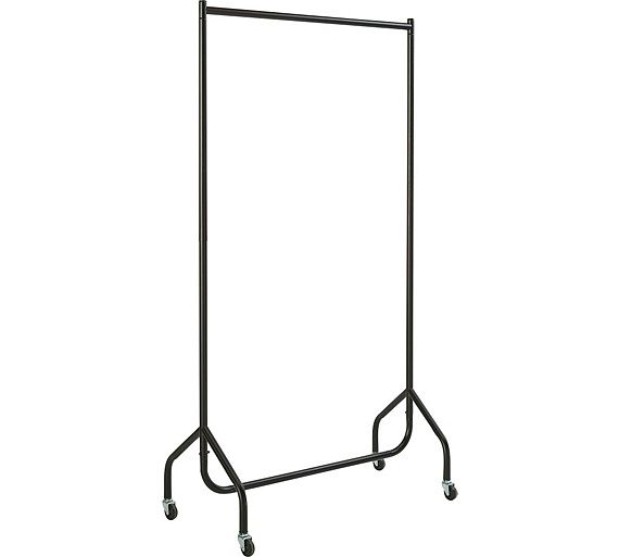 Buy HOME Single Heavy Duty Clothes Rail - Black at Argos.co.uk, visit Argos.co.uk to shop online for Hanging rails, Bedroom furniture, Home and garden