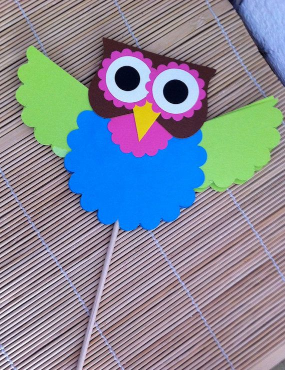 Owl on a stick.  I could see this as a story prop.