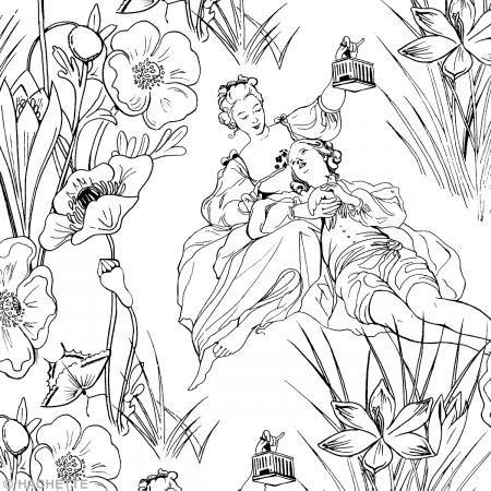 Livre coloriage adulte anti-stress - A la cour du roi - A4 - 100 coloriages - Photo n°2