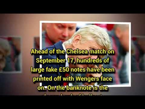 Arsenal fans launch protest ahead of live Chelsea match with fake 50 notes with Arsene Wenger