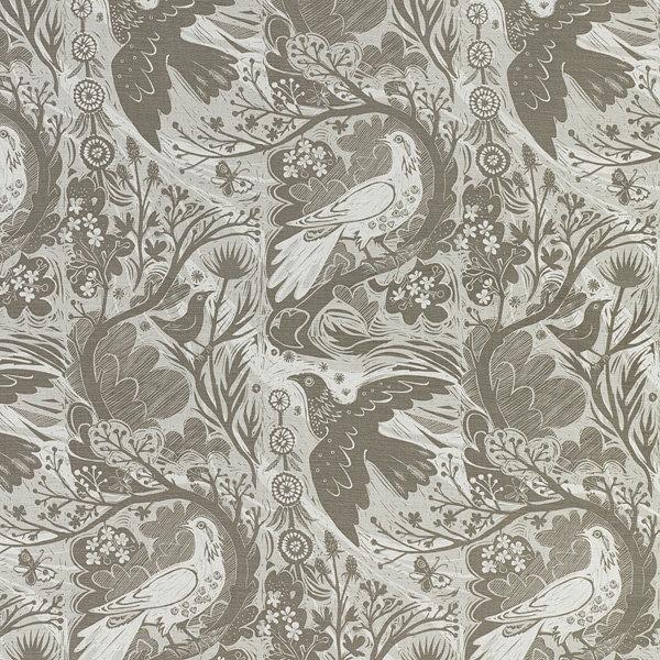 Doveflight fabric by Mark Hearld